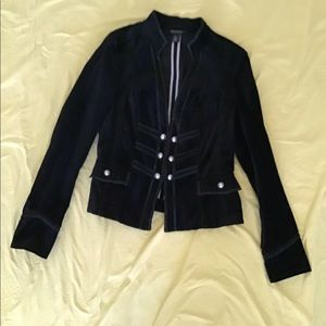 WHITE HOUSE/BLACK MARKET Black Velvet Jacket